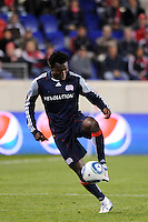 Kenny Mansally (7) of the New England Revolution. The New York Red Bulls defeated the New England Revolution 2-0 during a Major League Soccer (MLS) match at Red Bull Arena in Harrison, NJ, on October 21, 2010.
