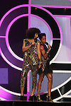 Tracee Ellis Ross and Regina King On Stage at Black Girls Rock!(TM) 2011 Honors Angela Davis, Shirley Caesar, Taraji P. Henson, Laurel J. Richie, Imani Walker, Malika Saada Saar, and Tatyana Ali Hosted by Tracee Ellis Ross and Regina King at the PARADISE THEATER BRONX, NY  10/15/11