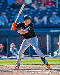 1 March 2017: Miami Marlins infielder Brian Anderson in Spring Training action against the Houston Astros at the Ballpark of the Palm Beaches in West Palm Beach, Florida. The Marlins defeated the Astros 9-5 in Grapefruit League play. Mandatory Credit: Ed Wolfstein Photo *** RAW (NEF) Image File Available ***