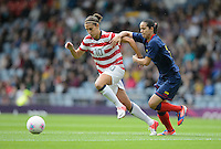 Glasgow, Scotland - Saturday, July 28, 2012: Carli Lloyd of the USA Women's soccer team during 3-0 victory over Colombia in the first round of the Olympic football tournament at Hamden Park.