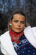 New York, NY, December 1974. Margaux Hemingway, granddaughter of writer Ernest Hemingway, and sister of the actress Mariel, has been the first fashion model who has been awarded a million dollars contract, by the company Fabergé, in 1970. .On June 1975 she appeared on the cover of TIME who dubbed her one of the new beauties of the Planet. She died in Santa Monica, CA, on July 1, 1996 at age 42, committing suicide.
