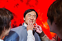 Oct. 4, 2011 - Tokyo, Japan - Japanese visitor touches the lips of the wax figure of Jackie Chan at the Madame Tussauds museum exhibit. The world's 13th Madame Tussauds museum showcases 19 wax figures of  celebrity musicians and movie stars. (Photo by Christopher Jue/AFLO)