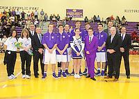 Guerin Boys Basketball Senior Night 2-21-17