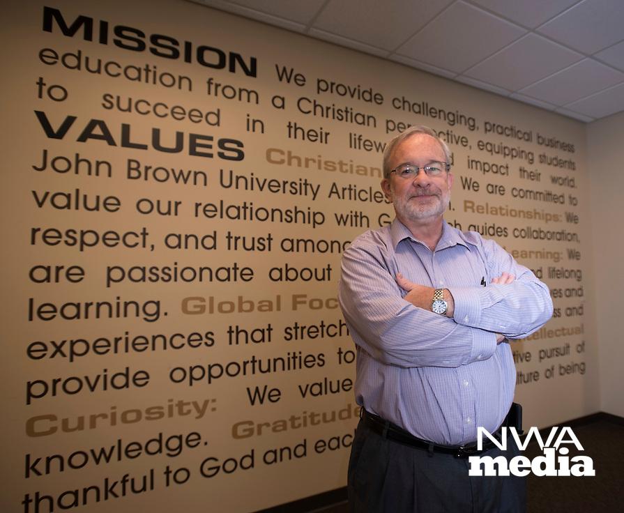 NWA Democrat Gazette/SPENCER TIREY<br /> Joe Walenciak, dean of the Donald G. Soderquist College of Business at John Brown University.