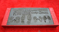 Emma Stone &amp; Ryan Gosling's hand &amp; footprints at the TCL Chinese Theatre, Hollywood, where the stars of La La Land had their hand &amp; footprints set in cement. <br /> December 7, 2016<br /> Picture: Paul Smith/Featureflash/SilverHub 0208 004 5359/ 07711 972644 Editors@silverhubmedia.com