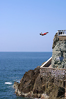 Cliff diver at Clavadista in Mazatlan, Sinaloa, Mexico