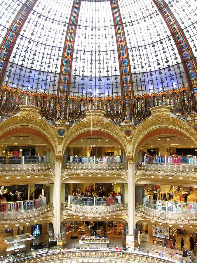Galeries Lafayette, famous department store in Paris, France