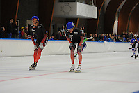 SCHAATSEN: LEEUWARDEN: 30-06-2016, Elfstedenhal Mass start, Winnaar in de A groep werd Evert Hoolwerf, Alexis Contin 2e, Jan Blokhuijsen 3e, ©foto Martin de Jong