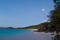 Moon rise at Trunk Bay<br /> Virgin Islands National Park