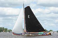 SKUTSJESILEN: GROU: SKS skûtsjesilen, Friese Sporten, 24-07-2010, Fryslân, skûtsje Earnewâld (Twee Gebroeders), ©foto Martin de Jong