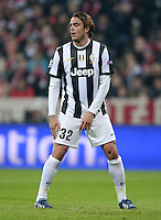 FUSSBALL  CHAMPIONS LEAGUE  VIERTELFINALE  HINSPIEL  2012/2013      FC Bayern Muenchen - Juventus Turin       02.04.2013 Alessandro Matri (Juventus Turin)