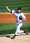 CHICAGO - 1992:  Jack McDowell of the Chicago White Sox pitches during an MLB game at new Comiskey Park in Chicago, Illinois.  McDowell played for the White Sox from 1987-1994. (Photo by Ron Vesely)