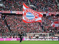 FUSSBALL   1. BUNDESLIGA  SAISON 2011/2012   31. Spieltag FC Bayern Muenchen - FSV Mainz 05       14.04.2012 FC Bayern Muenchen Fanentraeger in der Allianz Arena