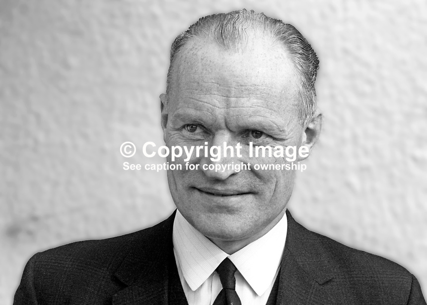 Ewart Bell, Irish rugby selector, senior civil servant, N Ireland, later knighted. March 1969. 196903000136<br />
