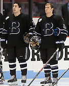 Jared Rickord (Bentley - 27), Brett Gensler (Bentley - 26) - The visiting Bentley University Falcons defeated the Boston University Terriers 4-1 (EN) on Saturday, December 14, 2013, at Agganis Arena in Boston, Massachusetts.