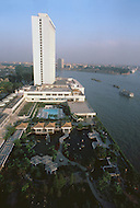 October 1984. In Guangzhou (formerly Canton), the four stars brand new White Swan Hotel.