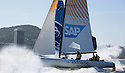 5th December, 2012. Rio de Janeiro, Brazil..Extreme Sailing Series 2012, Act 8..Images of SAP Extreme Sailing Team, co-skippered by Jes Gram-Hansen (DEN), co-skipper/tactician Rasmus Kostner (DEN), mainsail trim Pete Cumming (GBR), headsail trim Mikkel Rossberg (DEN) and bowman Jonas Hviid (DEN)...Credit: Lloyd Images.