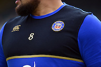 A general view of the Bath Rugby emblem. Aviva Premiership match, between Bath Rugby and Exeter Chiefs on October 17, 2015 at the Recreation Ground in Bath, England. Photo by: Patrick Khachfe / Onside Images