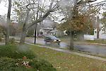 Ocotber 29, 2012 - Merrick, New York - Hurricane Sandy brings major wind and rain to Long Island, New York, USA