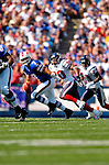 11 September 2005: JP Losman (#7), quarterback for the Buffalo Bills, rushed for 31 yards  in a game against the Houston Texans on September 11, 2005.  The Bills, wearing their 60s throwback uniforms, defeated the Texans 22-7, winning their first game of the season at Ralph Wilson Stadium in Orchard Park, NY.<br />
