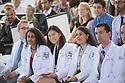 From left, Priyanka Chilakamarri, Yun-Yun Chen, Katia Chavez, Alejandro Castro. Class of 2016 White Coat Ceremony.
