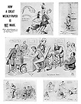 """How a Great Weekly Paper is NOT Made. (With acknowledgments to the colossal advertisement in """"The Times."""") (an Edwardian cartoon parodies the editorial process at the offices of Punch magazine)"""