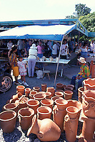 Pottery for sale at the Sunday market at El Valle , Panama