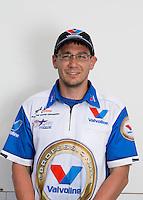 Jun. 2, 2013; Englishtown, NJ, USA: Portrait of a crew member for NHRA pro mod driver Mike Janis during the Summer Nationals at Raceway Park. Mandatory Credit: Mark J. Rebilas-