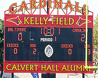 Score of the Carolina Railhawks during an NASL match against Baltimore Crystal Palace at Paul Angelo Russo Stadium in Towson, Maryland on September 18 2010.Carolina won 4-2.