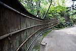Photo shows  the bamboo fence that marshals the main torii gate to the Honma Museum of Art in Sakata, Yamagata Prefecture, Japan, on July 06, 2012. Photographer: Robert Gilhooly
