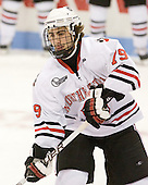 Cody Ferriero (Northeastern - 79) - The visiting Niagara University Purple Eagles defeated the Northeastern University Huskies 4-1 on Friday, November 5, 2010, at Matthews Arena in Boston, Massachusetts.