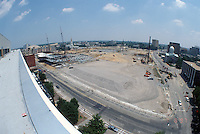 1997 July 08..Redevelopment..Macarthur Center.Downtown North (R-8)..LOOKING EAST.FROM FEDERAL BUILDING.SUPERWIDE...NEG#.NRHA#..