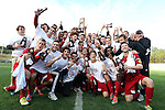 09 December 2012: Indiana players and coaches pose with the championship trophy. The Georgetown University Hoyas played the Indiana University Hoosiers at Regions Park Stadium in Hoover, Alabama in the 2012 NCAA Division I Men's Soccer College Cup Final. Indiana won the game 1-0.