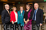 Jim Fitzgerald, Tess Fitzgerald, Alan King, Mary Ryan and Sean Ryan, all from Fenit, enjoying the Kerry GAA Supporters Club social on Saturday night last at Ballygarry House Hotel & Spa, Tralee.