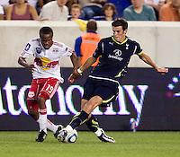 Dane Ricards, Gareth Bale. Tottenham defeated the New York Red Bulls, 2-1.