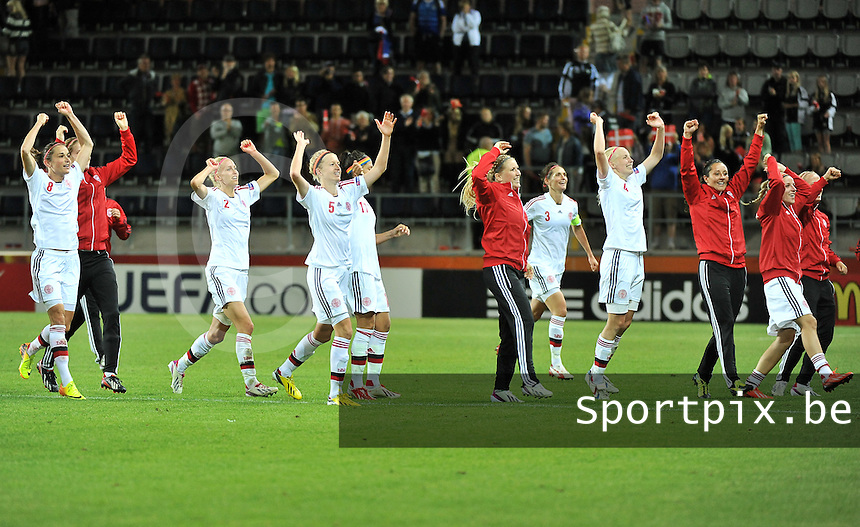 France - Denmark : vreugde bij Denemarken na de kwalificatie<br /> foto David Catry / nikonpro.be