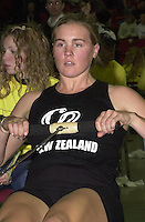 &copy; 2001 Peter Spurrier Sports  Photo.email pictures@rowingpics.com.Tel 44 (0) 7973 819 551.&copy; Peter Spurrier.18-11-2001.PPP Healthcare - British Indoor Rowing Championship.The National Indoor Arena.Georgina Evers-Swindell (Fastest women over 2000 meters ergo) Hamilton New Zealand. [Mandatory Credit: Peter SPURRIER/Intersport Images]<br />