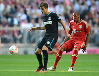 FUSSBALL   1. BUNDESLIGA  SAISON 2012/2013   7. Spieltag FC Bayern Muenchen - TSG Hoffenheim    06.10.2012 Joselu (li, TSG 1899 Hoffenheim) gegen Jerome Boateng (FC Bayern Muenchen)