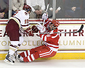 Joe Whitney (BC - 15), Joe Pereira (BU - 6) - The Boston College Eagles defeated the visiting Boston University Terriers 5-2 on Saturday, December 4, 2010, at Conte Forum in Chestnut Hill, Massachusetts.
