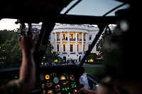 The South Portico of the White House is seen from aboard Marine One as it approaches the South Lawn for a landing, May 11, 2012. (Official White House Photo by Pete Souza)<br /> <br /> This official White House photograph is being made available only for publication by news organizations and/or for personal use printing by the subject(s) of the photograph. The photograph may not be manipulated in any way and may not be used in commercial or political materials, advertisements, emails, products, promotions that in any way suggests approval or endorsement of the President, the First Family, or the White House.&nbsp;