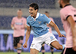 Calcio, Serie A: Lazio vs Palermo. Roma, stadio Olimpico, 2 settembre 2012..Lazio midfielder Hernanes, of Brazil, reacts during the Italian Serie A football match between Lazio and Palermo at Rome's Olympic stadium, 2 September 2012..UPDATE IMAGES PRESS/Riccardo De Luca