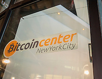 The newly opened Bitcoin Center in Lower Manhattan in New York is seen on Tuesday, January 21, 2014. The center is an educational resource which promotes the acceptance and awareness of crypto currencies including Bitcoins.  (© Richard b. Levine)