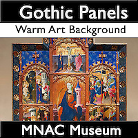 MuseoPics - Photos of  MNAC Museum Gothic Altar Panels, Pictures & Images - Warm