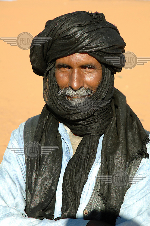 A local man wearing a turban.