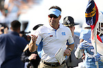 24 October 2015: UNC head coach Larry Fedora. The University of North Carolina Tar Heels hosted the University of Virginia Cavaliers at Kenan Memorial Stadium in Chapel Hill, North Carolina in a 2015 NCAA Division I College Football game. UNC won the game 26-13.