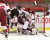 Garnet Hathaway (Brown - 23), Dan Ford (Harvard - 5) - The Harvard University Crimson defeated the visiting Brown University Bears 3-2 on Friday, November 2, 2012, at the Bright Hockey Center in Boston, Massachusetts.