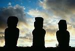 Moai Statues, Easter Island, Chile