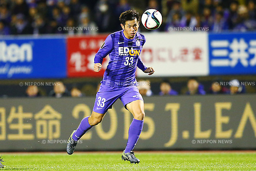 Tsukasa Shiotani (Sanfrecce), <br /> DECEMBER 5, 2015 - Football / Soccer : <br /> 2015 J.League Championship Final 2nd leg match<br /> between Sanfrecce Hiroshima - Gamba Osaka<br /> at Hiroshima Big Arch in Hiroshima, Japan.<br /> (Photo by Shingo Ito/AFLO SPORT)