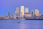 Canary Wharf seen from across the River Thames
