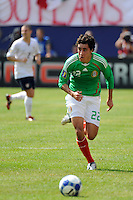 Efrain Juarez (22) of Mexico (MEX). Mexico (MEX) defeated the United States (USA) 5-0 during the finals of the CONCACAF Gold Cup at Giants Stadium in East Rutherford, NJ, on July 26, 2009.